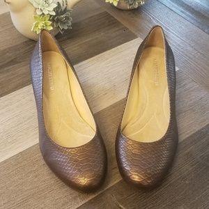 MICHELLE D Women Snakeskin Print Square Heels 8.5M